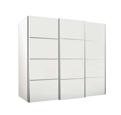 ארון הזזה 3 דלתות מעוצב עם פסי ניקל דגם דור
