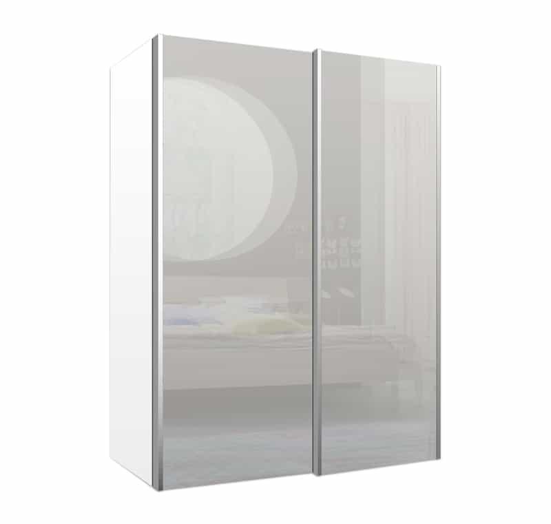 מתקדם ארון הזזה ניו-יורק 2 דלתות זכוכית | Design2Easy GK-89