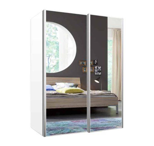 ארון הזזה 2 דלתות עם מראה דגם רועי