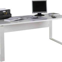 שולחן מחשב לבן ענק