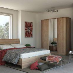מיטה אלון מבוקע 160